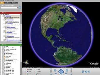 �� ������� Google Maps ��������� 3D-������