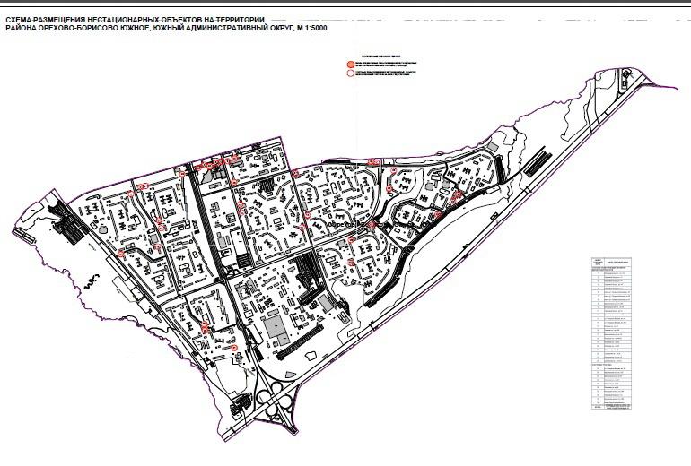 Москомархитектура опубликовала схемы размещения нестационарных торговых объектов в Москве.